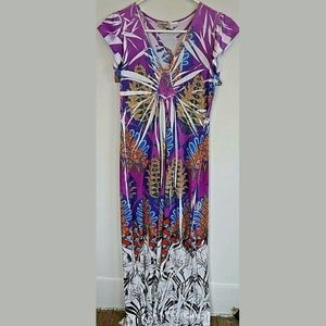 One world mazing dress small purple floral